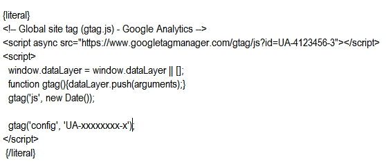 kod Google Analytics w Presta 1.7